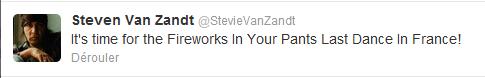 Tweet de Steven Van Zandt