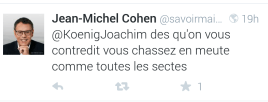 Jean Michel Cohen vegan secte