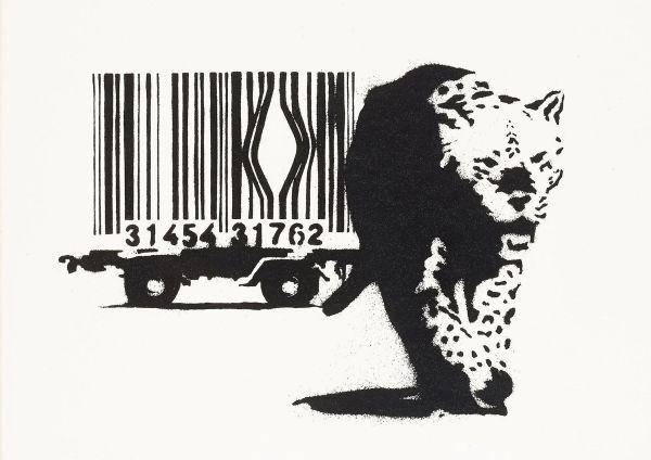 Banksy utilise le street art pour alterter sur l'exploitation animale.