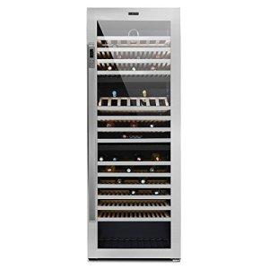 Klarstein Botella Trium Cave à vin réfrigérée (3 zones, 617L, classe énergétique B, 268 bouteilles, 617 litres, vitrine en verre anti UV)