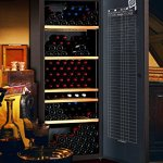 Cave à vin de vieillissement – 1 temp. – 184 bouteilles – Marron – CLIMADIFF – ACI-CLI711TC – Pose libre