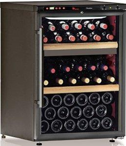 Cave à vin de service – 2 temp. – 64 bouteilles – Noir – CALICE – ACI-CAL201 – Pose libre