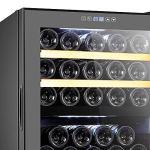 La Sommelière – Cave à Vin de Service – Cave à Vin Dual Zone – Cave à Vin 33 Bouteilles – Système Anti-Vibration et Hygrométrie Régulée – Noire Avec Éclairage Intérieur LED