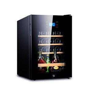 Réfrigérateur Cave à Vin Bière Boisson Boisson Chiller Réfrigérateur Cave 62L 5-18 ℃ Température Zone Lock & Key Bleu LED 43×48×63cm (Color : Noir)