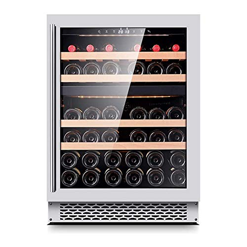 HEMFV Cave à vin, 39 Bouteilles de vin Réfrigérateur Contrôle d'humidité numérique Intelligent Compresseur intégré ou autoportantes Caves à vin for la Maison Bar Bureau (Color : Silver)
