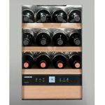 WKes653 LIEBHERR Cave à vin de vieillissement 38L net, +/- 12 bouteilles, LxH : 43 x 61cm, A++, acier inox ( WKes 653-21 )