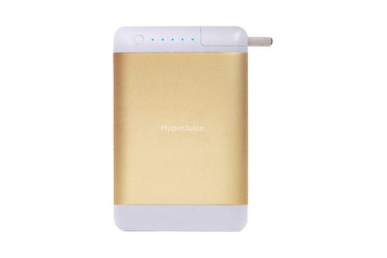 Batterie externe HyperJuice Plug 15600 mAh Gold