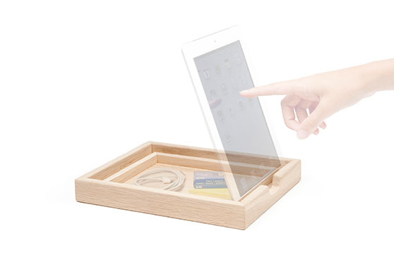 Dock Tray pour Tablettes oak light