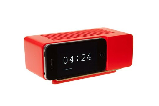 Support Alarm Dock pour iPhone 4/4S (Rouge)