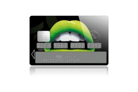 Sticker Carte Bleue Lips Apple (vert)