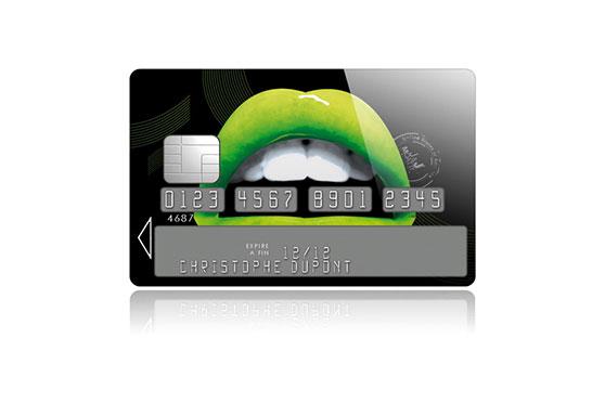 Sticker Carte Bleue Lips Apple (vert)