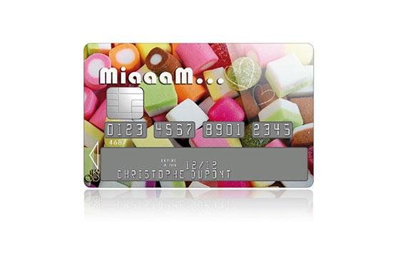 Sticker Carte Bleue Miaam