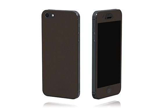 Sticker en cuir pour iPhone 5 The Surface Collection (Noir)