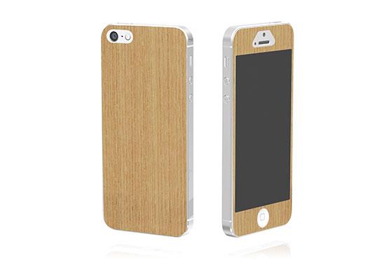 Sticker en bois pour iPhone 5 (Frêne)