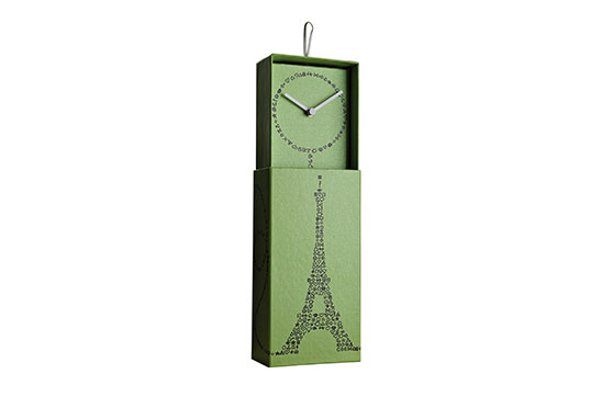 Horloge Paris (Vert)