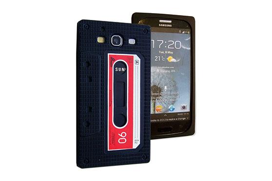 Coque Retro Cassette Galaxy S3 (Noir)