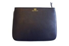 Pochette iPad cuir Cuir lisse taurillon (noir)