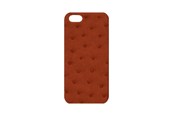 Coque iPhone 5/5s/SE Autruche (Orange)