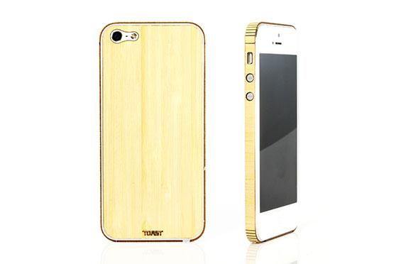 Sticker iPhone 5 en bois (Bambou)