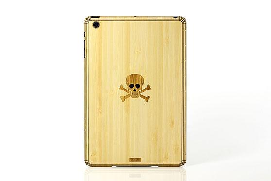 Sticker iPad Mini en bois Tête de Mort (Bambou)