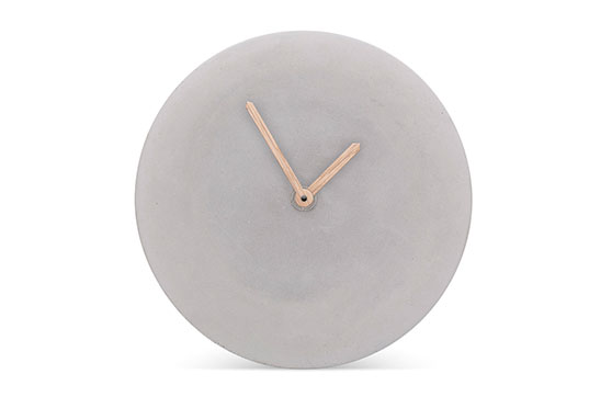 Wall Clock Concrete