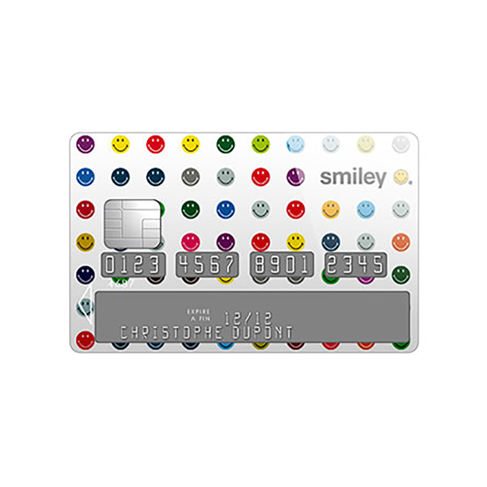 Sticker Carte Bleue Smiley Points