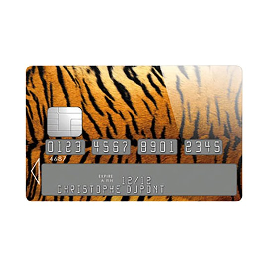 Sticker Carte Bleue Tigre