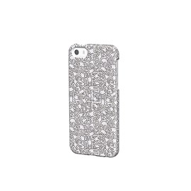 Keith Haring Collection - Coque iPhone 5/5S/SE People et écouteurs (Blanc)