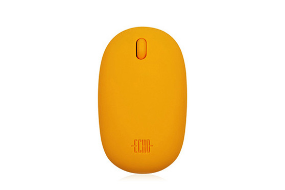 Souris sans fil Cobble Orange Echo Creative