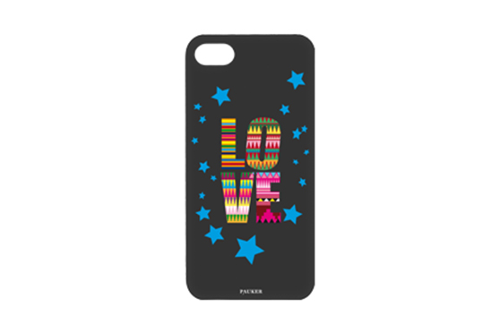 Coque iPhone 5/5S/SE Pauker Love Noir