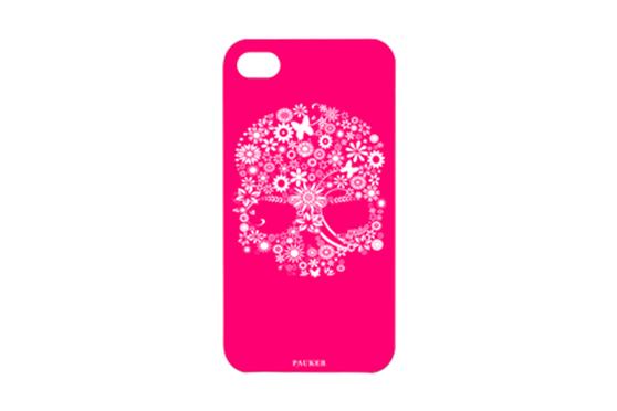Coque iPhone 4/4S Noir Pauker Skull Rose