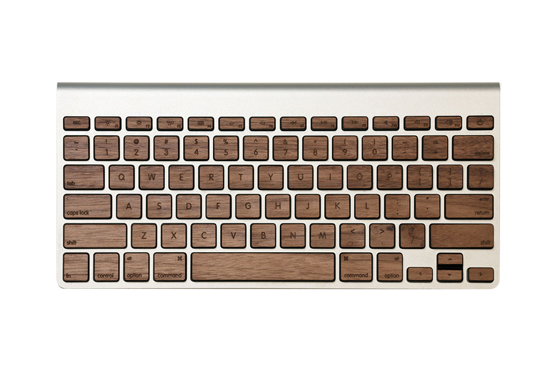 Sticker bois pour clavier sans fil Mac Lazerwood
