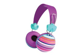 Casque Merkury hip hip stripe (MULTICOLORE VIOLET)