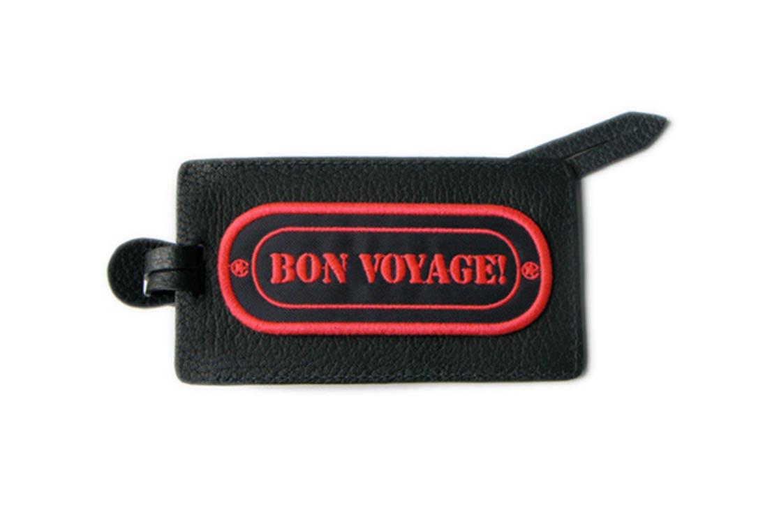 Etiquette bagage BON VOYAGE (ROSE)