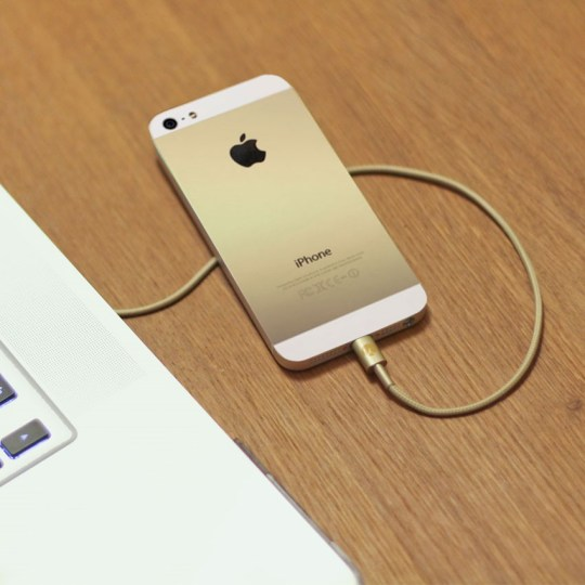 Câble Lightning pour iPhone et iPad (or)