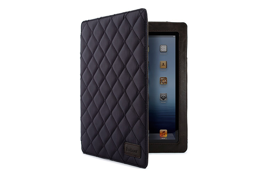 Folio iPad Mini Barbour matelassé (marine)