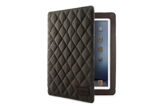 housse barbour iPad Mini matelassé (olive)