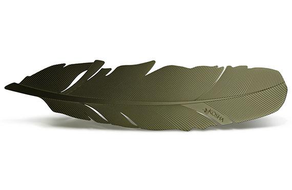 Marque Page Plume Kosha (Vert Olive)