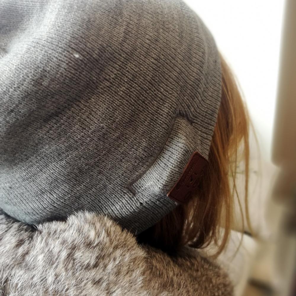 Bonnet Bluetooth Izi sans revers unisexe (Gris)