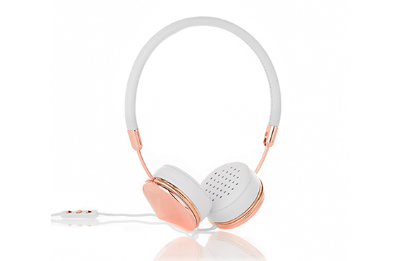 Casque The LAYLA Cuir FRENDS (Blanc / RoseGold)