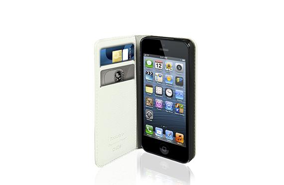 Coque à rabat SBS pour iPhone 5 Blanc