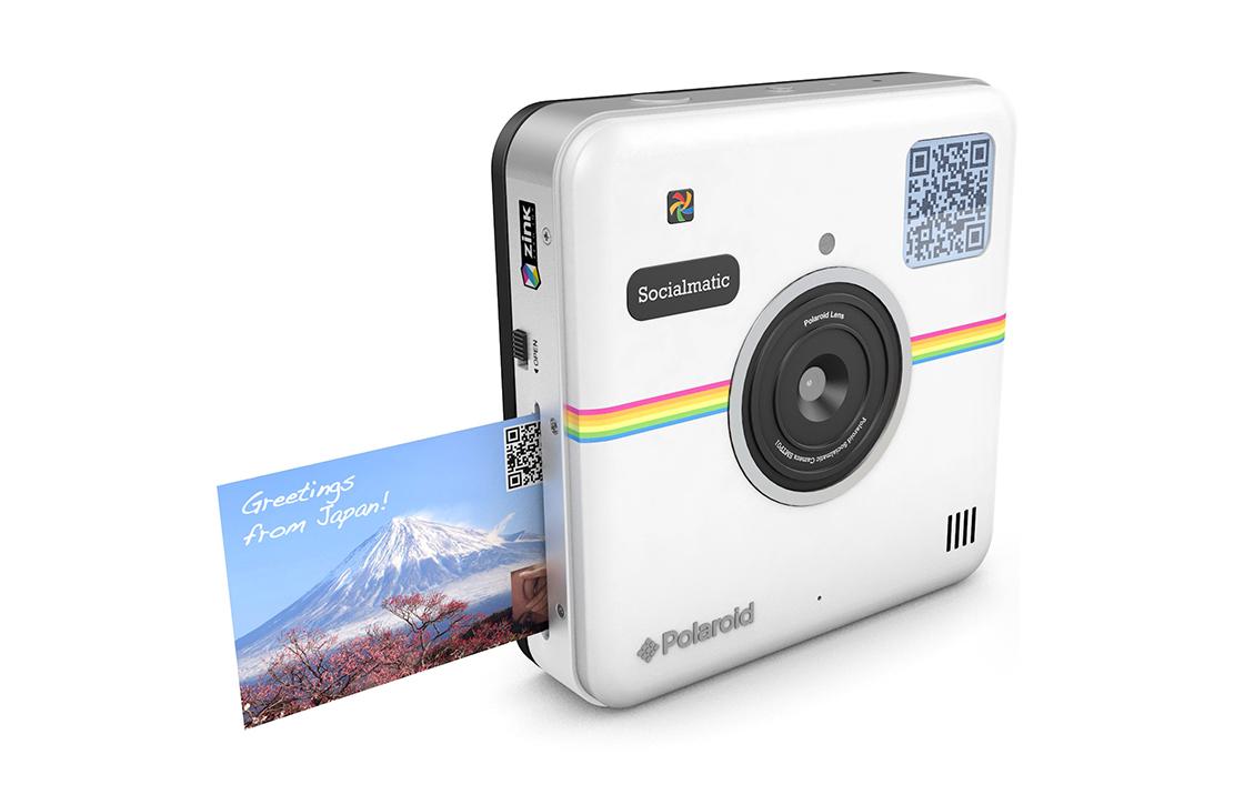 Appareil photo instantané Socialmatic Polaroid blanc