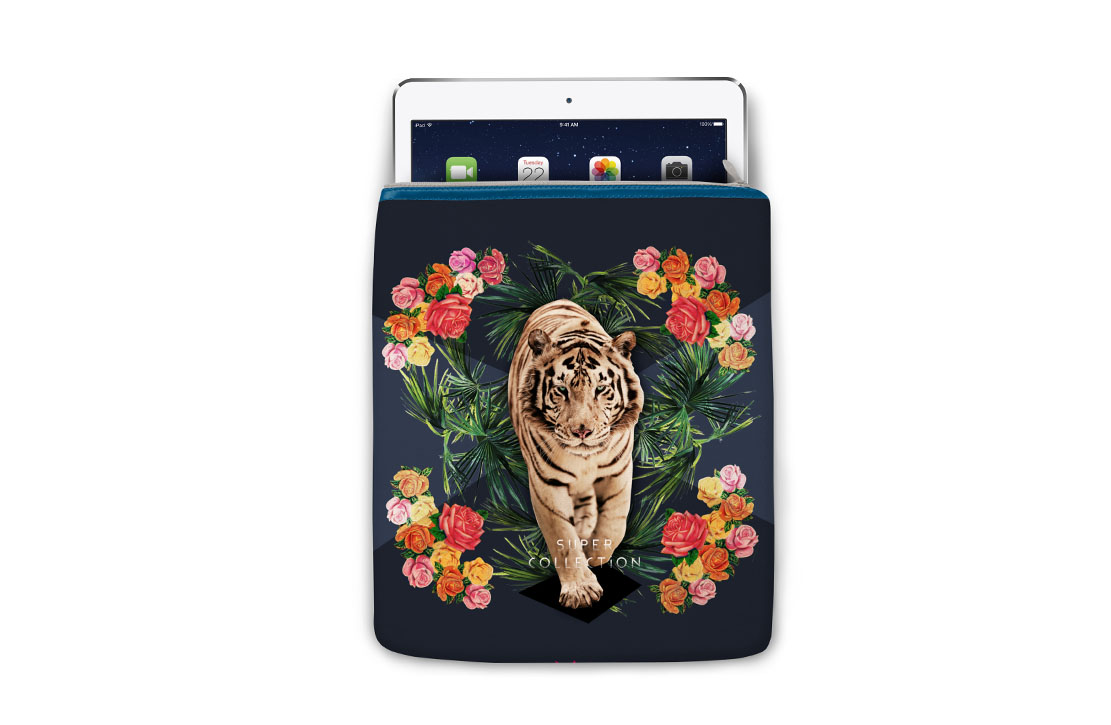 Housse Super Collection Tigre iPad