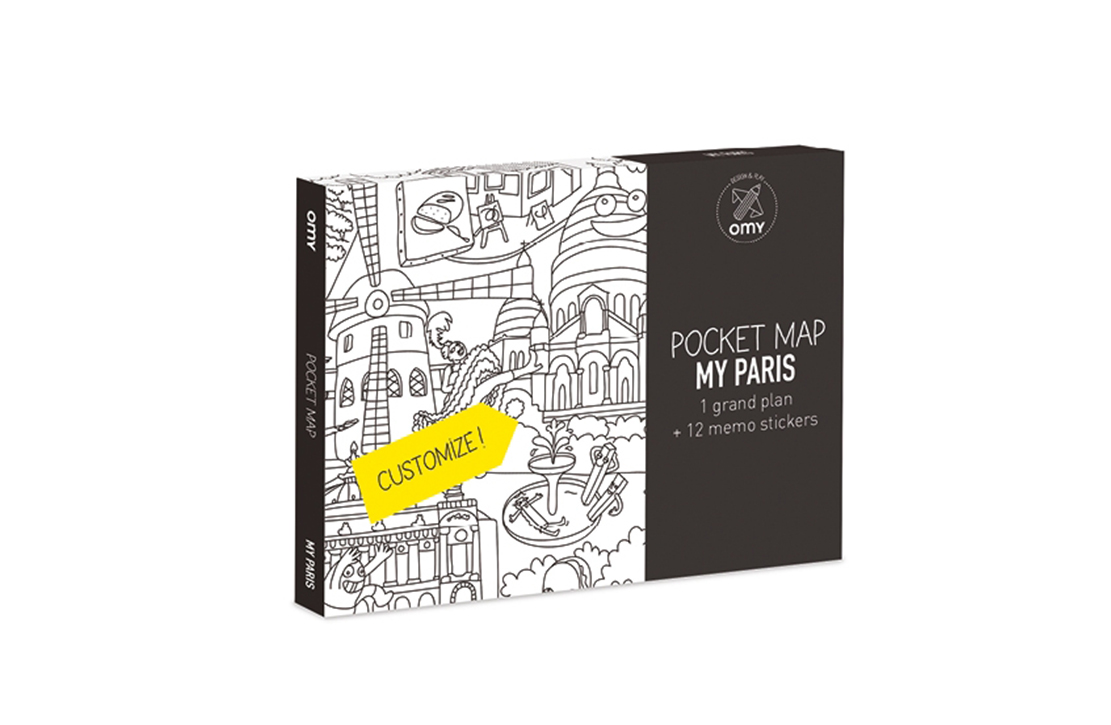 Pocket map My Paris OMY