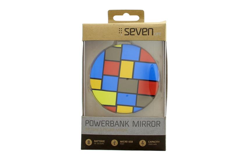 Batterie externe miroir graphique Seven Life