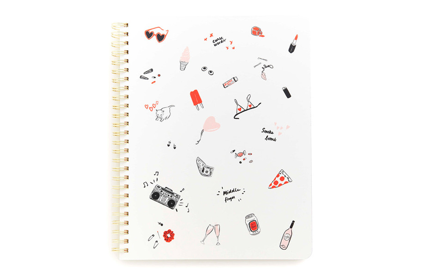 Cahier à spirales Girls just wanna have fun Ban.do
