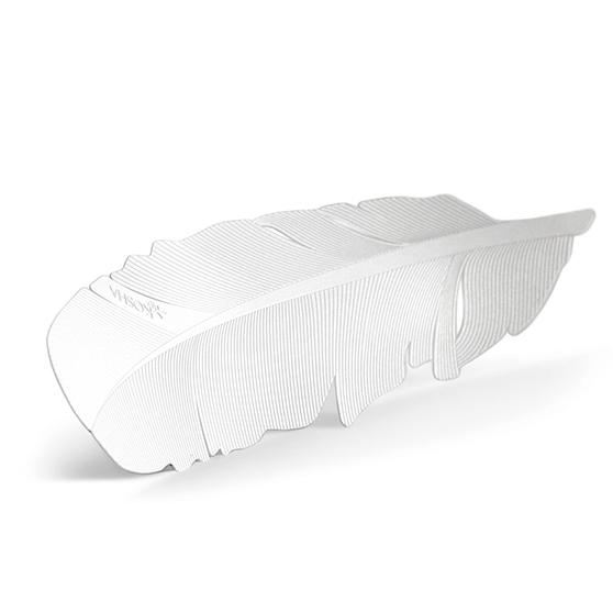 Marque-page plume Blanc Kosha