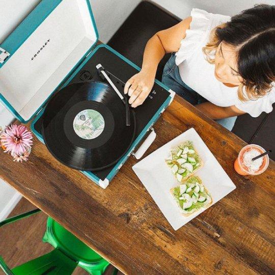 Platine vinyle Crosley Cruiser Deluxe turquoise