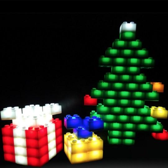 Coffret de briques de construction lumineuses 24 pièces Light Stax