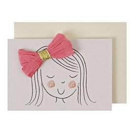 Carte postale Joyeux anniversaire Petite fille Meri Meri